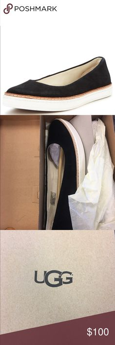Ugg Flats Kammi black Ugg Flats. Comes with its original box and wrapping. Recently purchased from Bloomingdales UGG Shoes Flats & Loafers