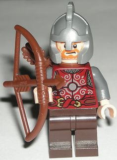 LEGO Lord of the Rings Rohan Soldier Minifigure w/ Bow & Quiver Weapons 9471 $12.99