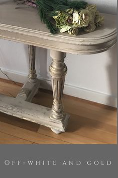 Hand refinished with chalk paint. Old white, coco, old ochre and gold gilding.Shabby chic and stylish neutrals. Annie Sloan Painted Furniture, Chalk Paint Furniture, Annie Sloan Chalk Paint, Annie Sloan Old White, White Chalk Paint, Old Chairs, Refurbishment, French Country Style, Gold Gilding