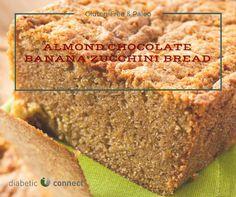 This Almond Chocolate Banana Zucchini Bread recipe is grain-free, gluten-free, & paleo  #recipe #glutenfree #paleo