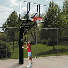 Bison Ultimate Adjustable System. Home or recreational use. Raises from 7 1/2 feet to 10 feet.