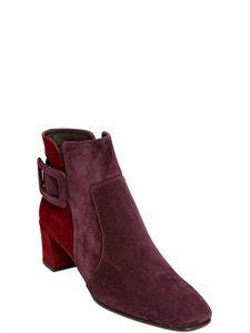 cheaper 67bf4 063c8 Love! Love! 45MM POLLY TWO TONE SUEDE ANKLE BOOTS Suede Ankle Boots, Luxury