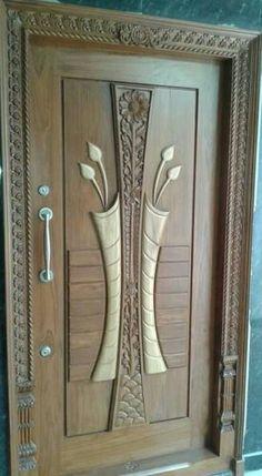 good tech interiors House Main Door Design, Front Door Design, Gate Design, Wooden Door Design, Wooden Doors, Modern Front Door, Double Front Doors, Art Deco Door, Door Picture