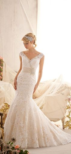 lace wedding dress lace wedding dresses | and love the v neck style