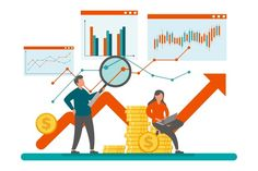 Business Illustration, Graphic Design Illustration, Where To Invest, Intraday Trading, Gold Stock, Web Project, Business Intelligence, Cute Doodles, Find A Job