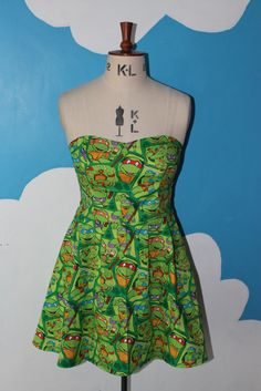 Teenage Mutant Ninja Turtles Dress. TMNT Cartoon. Geek clothing. Geek Girl.