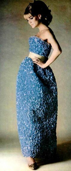 Deborah Dixon in evening gown by Guy Laroche, photo by Emerick Bronson, 1964