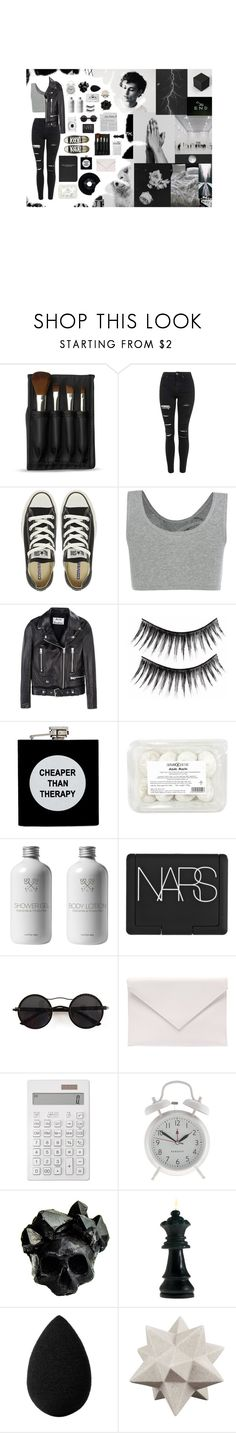 """""""~Sweater Weather~"""" by gloomytearrs ❤ liked on Polyvore featuring KING, Jet Lag, The Body Shop, Topshop, Converse, Acne Studios, ASOS, Nikon, NARS Cosmetics and Chicnova Fashion"""
