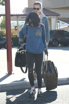 Vanessa Hudgens & Austin Butler arriving at Burbank Airport. - February 11th
