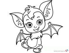 cute vampirina coloring pages batty printable - Vampirina Coloring Pages