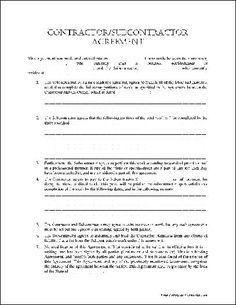 Work Agreement Contract Template Employee Free Sample Employment