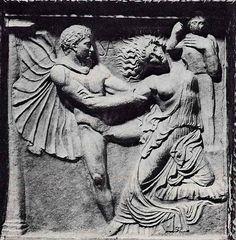 Relieve romano con la violación de Casandra