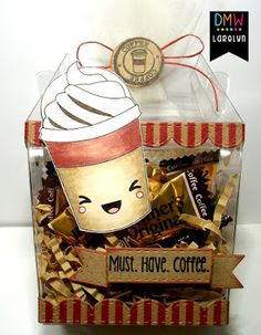 Hi Crafty Friends It's Larelyn from Handmade From My Heart . Today I'm sharing another image from the Kawaii Coffee set. Coffee Set, Digital Stamps, Cool Designs, Lunch Box, Kawaii, Crafty, Inspired, Gallery, Creative