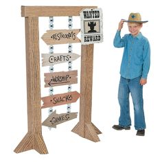 VBS Western Directional Sign - OrientalTrading.com