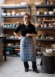 Sarah Schembri in her East Brunswickstudio. Photo -Sean Fennessyfor The Design Files.