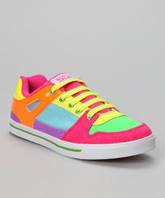 Take a look at this Neon Breakdown Sneaker - Women on zulily today!