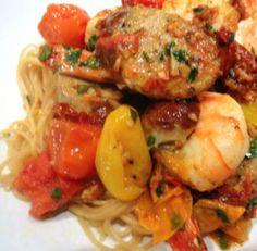 al fresco ® Recipe - Shrimp Scampi With Sundried Tomato Chicken Sausage