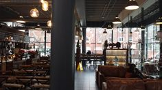 Primary Research: I had a chance to visit a coffee shop open in an old factory building. The amount of space offers a lot of possibilities to decorate a shop.