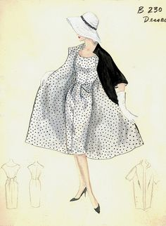 1950s Love the front detail and of course the matching lining!