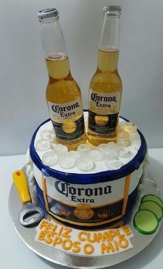 27th Birthday Cake, Beer Birthday Party, Birthday Cake For Him, Unique Birthday Cakes, Happy Birthday Cakes, Birthday Wishes, Beer Party Decorations, Birthday Decorations For Men, Beer Mug Cake