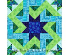 Octagonia quilt block pattern, paper pieced quilt patterns, INSTANT DOWNLOAD, PDF patterns, celtic knot patterns, hexagon quilt patterns