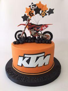 KTM motor cross cake