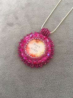 A personal favorite from my Etsy shop https://www.etsy.com/listing/552107779/rose-beaded-embroidery-necklace-pink