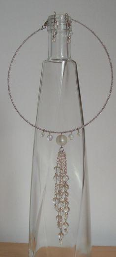 memory wire necklace & earrings