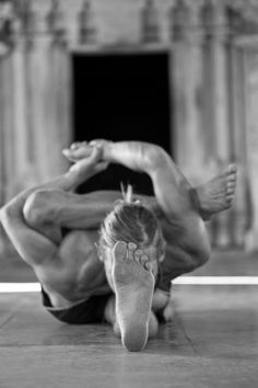 Isn't this the most beautiful bound leg behind the head forward fold? Enjoyed and repinned by yogapad.com.au