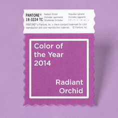 Pantone's Color of the Year 2014: Radiant Orchid - Style. Design. Innovation.
