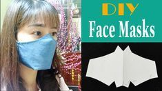 Instructions for making simple cloth masks to prevent influenza, if you do not have a sewing machine, you can sew your hands. Sewing Hacks, Sewing Crafts, Sewing Projects, Easy Face Masks, Diy Face Mask, Art Simple, 3d Face, Diy Mask, Mask Making