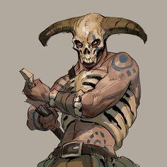 Exoskeleton by AlexAlexandrov on DeviantArt Fantasy Character Design, Character Design Inspiration, Character Concept, Character Art, Concept Art, Fantasy Warrior, Fantasy Rpg, Medieval Fantasy, Dark Fantasy