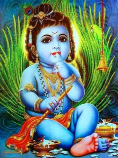 God Krishna is considered to be one of the reincarnations of Lord Vishnu. Find a huge collection of Lord Krishna Images & wallpapers grouped by appearances. Arte Krishna, Krishna Radha, Photos Of Lord Krishna, Krishna Pictures, Deus Vishnu, Indian Prayer, Childhood Images, Ganesh Wallpaper, Hd Wallpaper