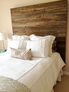 barn wood headboard....making this out of old red barn wood from my uncle in Ohio!