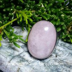 Rose Quartz Crystal Gemstone Inner Strength Ring Adjustable Size