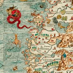 The first time one looks at a color print of Olaus Magnus' 1539 Carta Marina, the eyes scan the crowded landmass and fix on the creatures in the wester ...