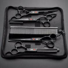 inch Professional Pet scissors for dog grooming dogs shears hair cutter Straight &Thinning & Curved scissors set +comb Coupon Drop Ship Aliexpress Leash Training, Training Your Dog, Training Tips, Dog Grooming Scissors, Grooming Dogs, Hair Cutter, Pet Dogs, Pets