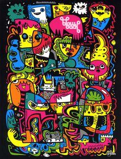 Jon Burgerman. #jonburgerman http://www.widewalls.ch/artist/jon-burgerman/