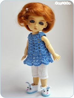 royal blue set with rabbit-slippers | Flickr - Photo Sharing!