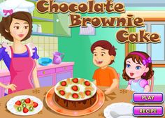 Chocolate Brownie Cake, Cake Games, Cooking Games, Play Food, Cake Recipes, Lovers, Baking, Desserts, Tailgate Desserts