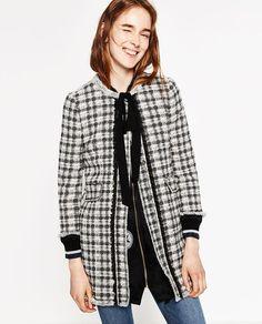 Image 2 of CHECK COAT from Zara