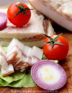 Slanina afumata Romanian Food, Romanian Recipes, Grubs, Allrecipes, Bacon Chocolate, Deserts, Favorite Recipes, Lunch, Diet Breakfast