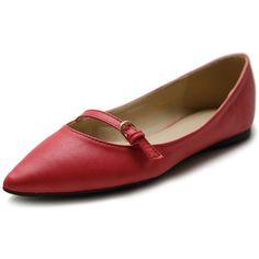 Amazon.com: Ollio Women's Shoe Ballet Pointed Toe Mary Jane Flat: Shoes