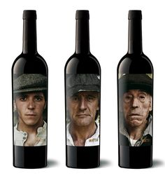 The Matsu's wine triology, 'El Pícaro', 'El Recio' and 'El Viejo' are represented by a portraits series of three generations that devote their lives to the field. Each one personality's embodies the characteristics of the wine that gets its name. Wine Bottle Design, Wine Label Design, Wine Bottle Labels, Wine Bottles, Wine Packaging, Packaging Design, Design Da Garrafa, History Of Wine, Different Wines