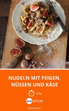 Nudeln mit Feigen, Nüssen und Käse - smarter - Kalorien: 873.04 kcal - Zeit: 1 Std. | eatsmarter.de #nudeln #pasta #feigen