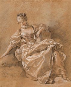 François Boucher   1703-1770   Young Girl with a Bird Cage   The Morgan Library & Museum
