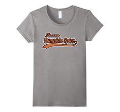 Women's Team Pumpkin Spice Funny Fall Latte T-Shirt Large…