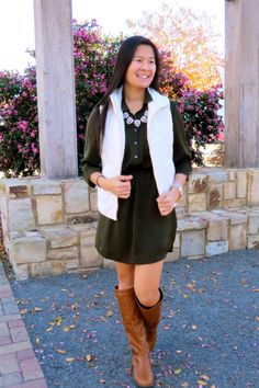 Pastel N Pink: Green + White. Fall / Winter outfit inspiration