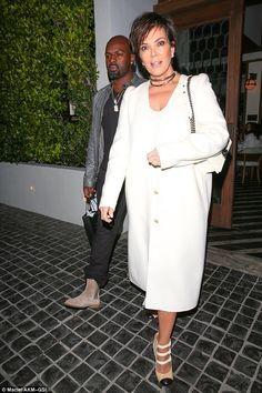 Snap: Kris Jenner, who arrived with boyfriend Cory Gamble, appeared to get the memo, matching Gigi's all white