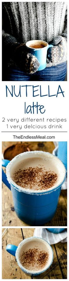 This Nutella latte recipe can be made 2 completely different ways. Try them both to see which you like best. ps. one of them can be made vegan!